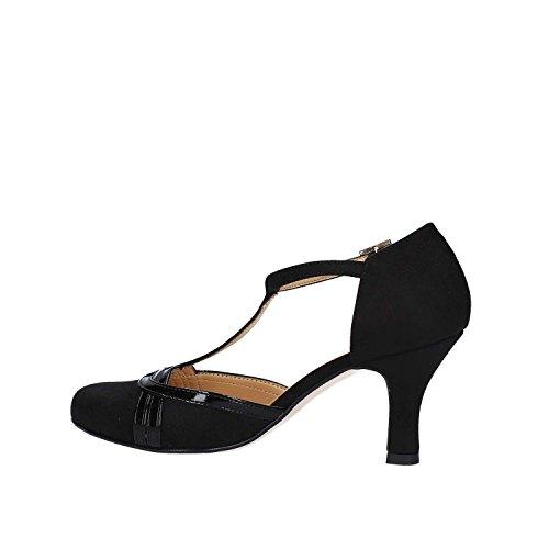 GRACE SHOES 9153 Sandales à Talons Hauts Femmes Noir