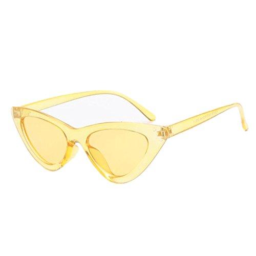 Macxy - Art und Weise Nette reizvolle Dame-Katzenaugen-Sonnenbrille Frauen Weinlese-Marke Klein Sonnenbrillen Weiblicher Oculos de sol [Gelb]