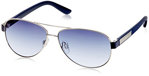 IDEE Aviator Sunglasses (IDS1851C4SG|100|Shiny Silver and Blue ) image