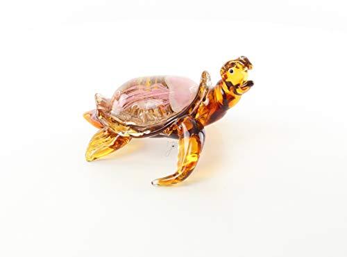 Ellas-Wohnwelt Schildkröte Tier Figur Murano-Glas Qualle Panzer Meer
