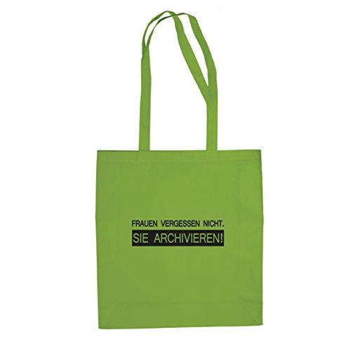 Planet Nerd Frauen vergessen nicht - Stofftasche/Beutel, Farbe: hellgrün