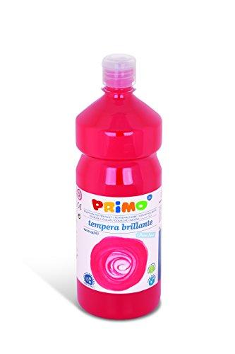 Primo Schulmalfarbe Tempera Farbe, 1000 ml Flasche Mit Dosierverschluss (Zinnober)
