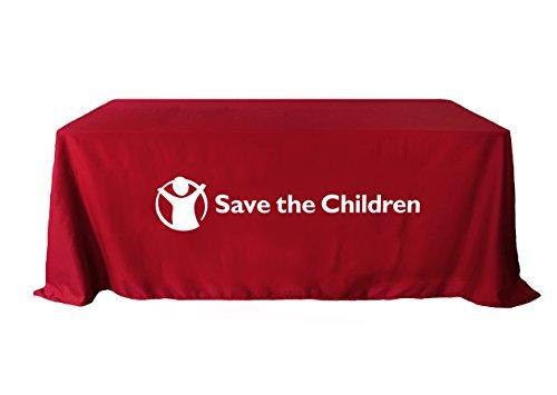 lung Tischdecke, 6ft Tisch, bedruckt mit Ihrem Logo, Polyester, schwarz, 178x274 ()