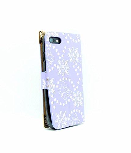 iPhone 7Wallet Fall–Zubehör für Handys von Oliviasphones weiß Musical Phone Giraffe violett