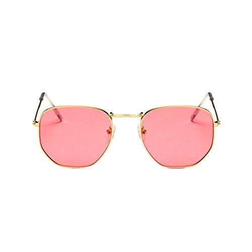Ketamyy retro cornice in metallo occhiali da sole quadrati moda uomo e donna selvaggia luminoso occhiali sole trasparente rosso/oro cornice taglia unica