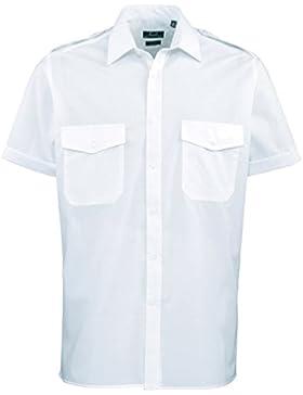 Premier Workwear Camicia da pilota a maniche corte da uomo