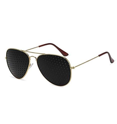 Black Pinhole Sonnenbrillen, Pinhole Microhole Small Sonnenbrillen, Strabismus Correction Small Brillen, Micro Anti-Fatigue- / Anti-Myopie- / Astigmatismus-Brillen