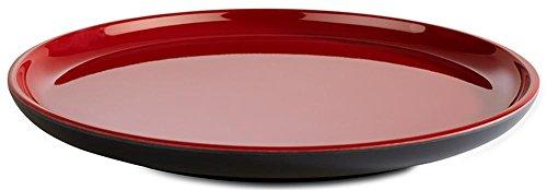 APS Teller -Asia Plus- aus Melamin Ø 19,5 cm, Höhe: 2 cm, innen: rot, glänzend, außen: schwarz, matt