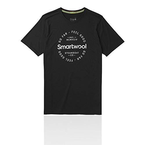 Smartwool Herren Merino Sport 150 Go Far Feel Good Tee T-Shirt, Black, XXL