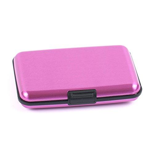 2-TECH Deluxe Kreditkarten Etui Alu Case Wallet Pink Metallic