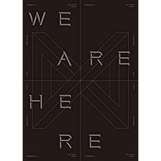 MONSTA X - WE ARE HERE [I ver.] (Vol.2 Take.2) 1CD+134p Photobook+2Photocard+Pre-Order Benefit+Folded Poster+Double Side Extra Photocards Set