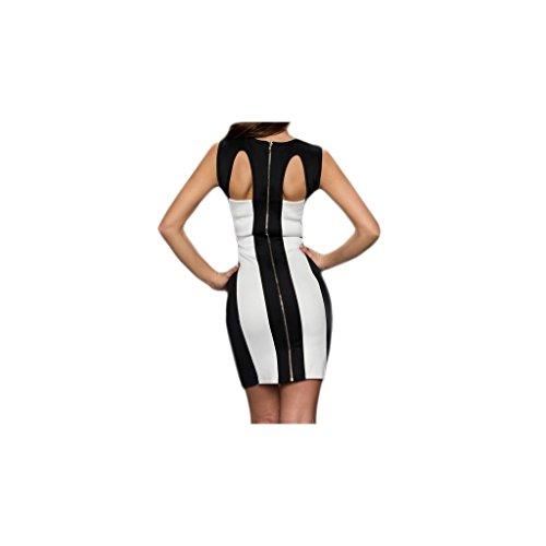 Waooh - Reißverschluss Kleid Doirie Weiß