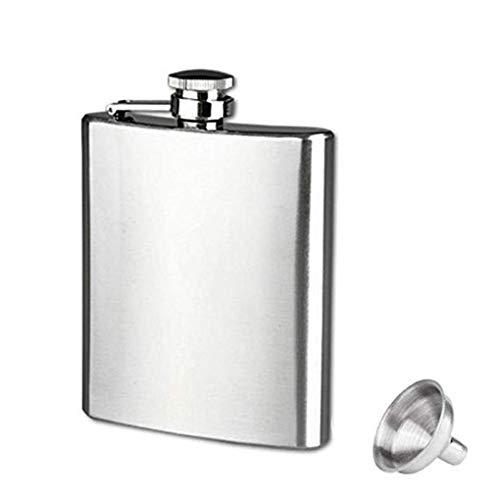 Morza Tragbare Mini-Hip Flask 4 5 6 7 8 9 10 18 Unzen Edelstahl-Hüfte-Alkohol-Spiritus-Flasche Kolben mit Cap Funnel - Alkohol 2 Unzen Flüssigkeit