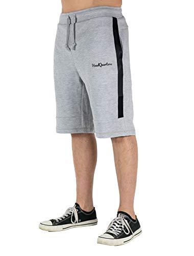 Fleece-active Shorts (Headquarters Herren Performance Tech Fleece Athletic-Fit Short Workout Casual Gym Active Wear Taschen - Grau - X-Groß)