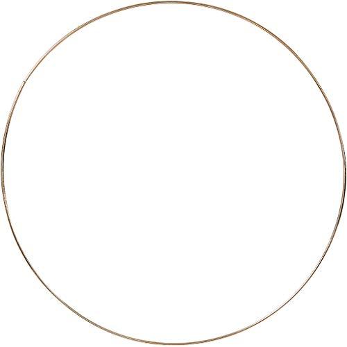 Metallring, D: 30 cm, Stärke: 3 mm, Gold, 1Stck.