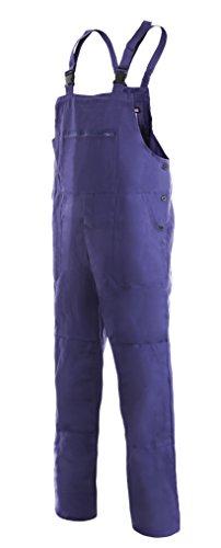 CXS Franta Arbeitslatzhose Herren 100% Baumwolle - Sehr Stabile Strapazierfähige Arbeitshose mit Hosenträger Gartenhose Bundhose Cargohose Arbeitsoveral (Blau, Größe 54)