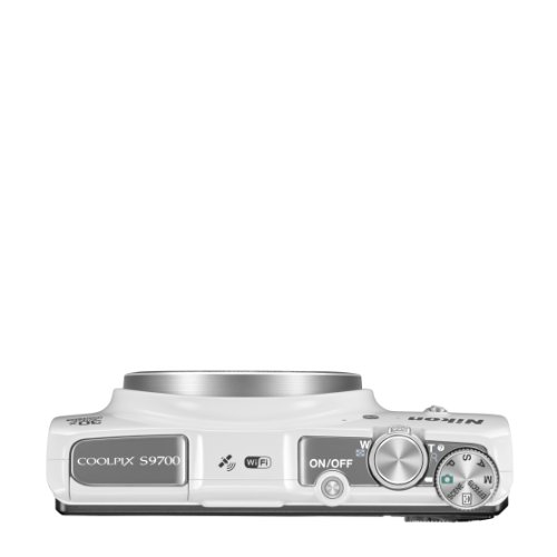 Nikon Coolpix S9700 Compact Digital Camera - White (16.0 Mp, 30x Zoom) 3.0 Inch Oled With Wi-fi & Gps