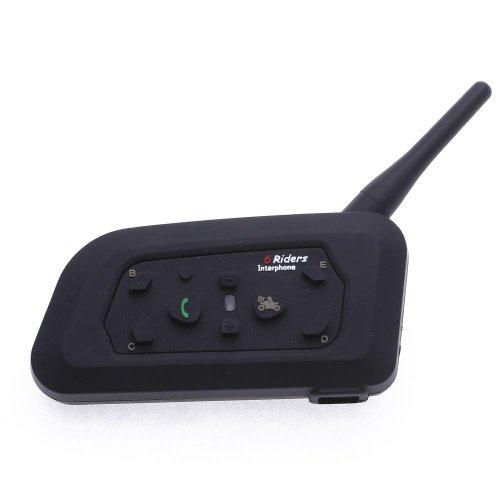 CARCHET Motorrad Gegensprechanlage 1200M Bluetooth Sprechanlage wasserdicht Intercom Helm Headset 6 Reiter unterstützen für Outdoor-Radfahren, Skifahren, Bergsteigen