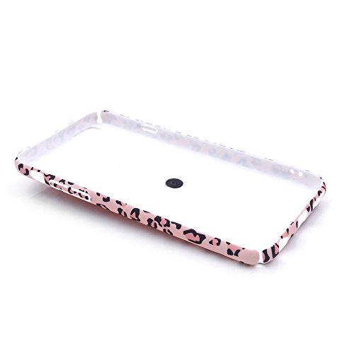 """iProtect Hardcase mit Ring Halter Marmor Design Schutzhülle in Schwarz mit Fingerhalterung für Apple iPhone 6 6s (4,7"""") Leo Pink"""