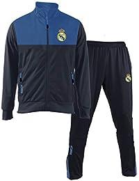 593846ab4315 Tuta Ufficiale Real Madrid Blu Navy 2018 2019 in Blister Giacca e Pantaloni  Originale Adulto e