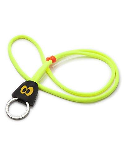 Original Lanyards® stylisches Geister Schlüsselband Schlüsselanhänger Lanyard in 6 Motiven erhältlich - (Made In Portugal) Neon/Gelb - Geist