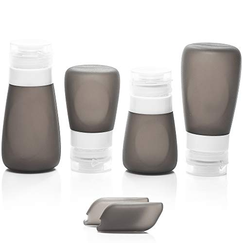 Ozmac Silikon Reiseflaschen Set Grau