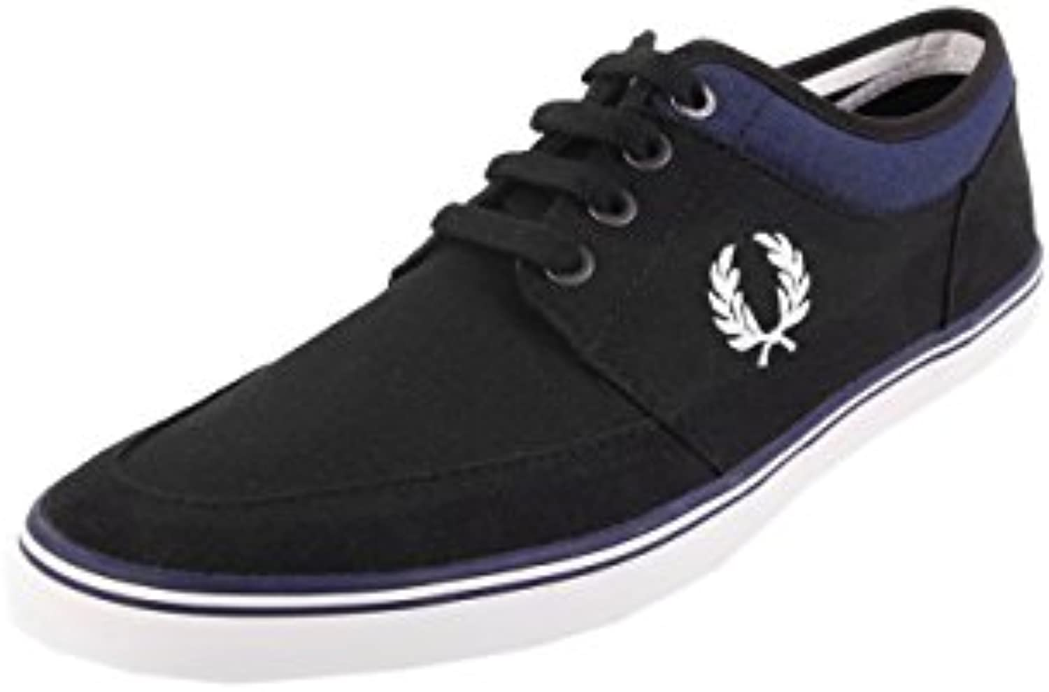 Fred Perry Stratford Canvas Black Snow White B1167102  Turnschuhe