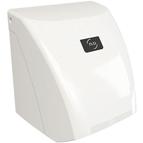 JVD automatischer Zephyr Warmluft Händetrockner, [Gehäusefarbe]:Weiß - 230v Händetrockner
