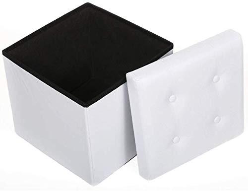 Taburete de almacenamiento Puff Baúl Plegable Cuadrado Taburete de Al
