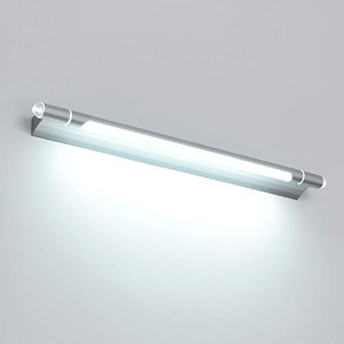 Bin Bin LED-Spiegel Leicht Einfache Wand Lampe Bad Wasserdicht Spiegelschrank Light Toilette Dressing Tischlampe,White,53Cmsilver
