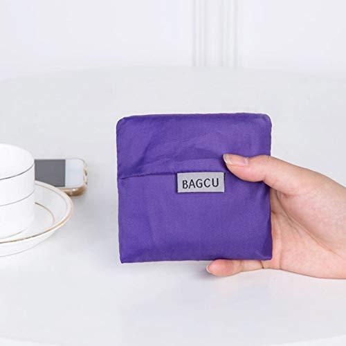 Faltbare Design-Nylon-Einkaufstasche Umweltfreundliche wiederverwendbare tragbare Tragegriff-Tasche für Reiselebensmittelgeschäfte (Nylon Wiederverwendbare Einkaufstaschen)