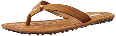 Sparx Men's Tan Leather Slippers (SFG-2039) (6 UK)