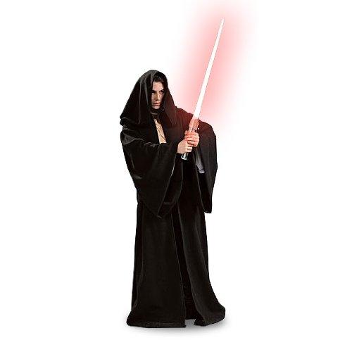 Star Wars - Sith Robe, Gewand mit Kapuze, günstiges Kostüm, (Darth Kostüm Günstige Vader)