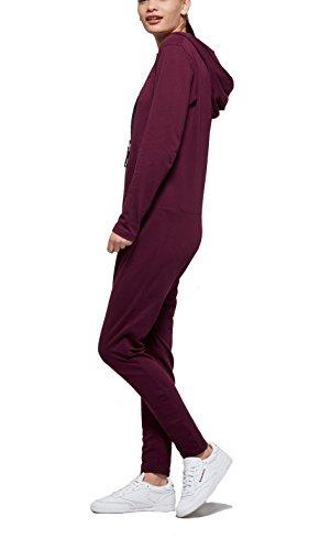 OnePiece Damen Jumpsuit UNO, Violett (Burgundy), 36 (Herstellergröße: S) - 5