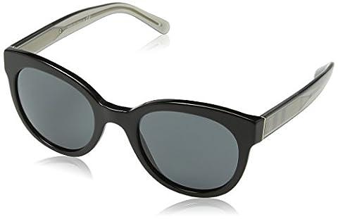 Burberry Unisex Sonnenbrille BE4210 Schwarz (Gestell: Schwarz, Gläser: Grau 300187), Medium (Herstellergröße: 52)