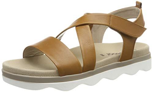 Gabor Shoes Damen Casual Riemchensandalen, Beige (Cognac 24), 37 EU