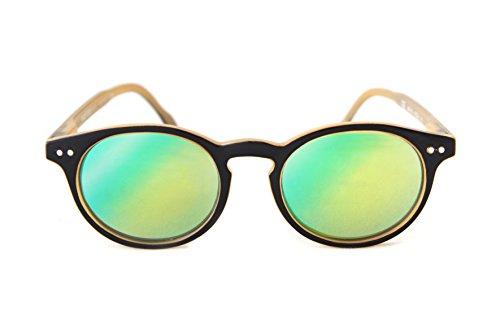 9376ff54171b11 Lunettes de soleil vintage effet miroir Read Loop Sunrise Miror Tradition  verres miroités catégorie 3 protection