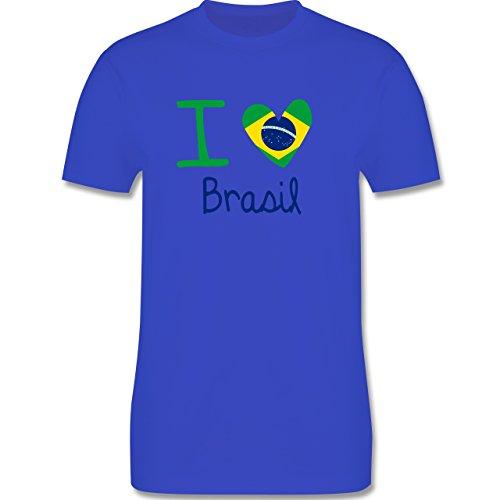 Länder - I love Brasil - Herren Premium T-Shirt Royalblau