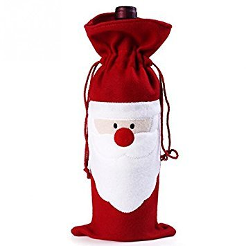 Bei Wang 1Pcs Navidad Vino rojo Papá Noel Cubierta