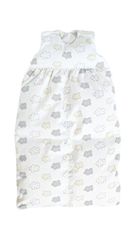Odenwälder BabyNest Daunen-Schlafsack/Kinderschlafsack, Größe:90, Design:Wolke silber