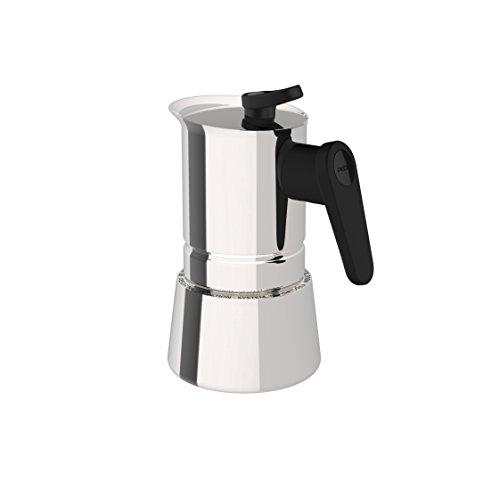 comprare on line Pedrini 02CF036 Caffettiera induzione, Acciaio Inossidabile, Steel Moka, 2 tazze prezzo