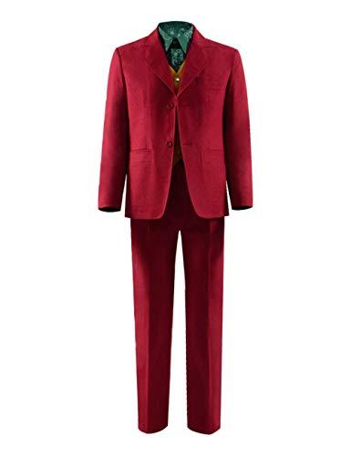 Joker Cosplay Kostüm Jacke Hose Weste Shirt Komplett Set (XL, Stil - Das Joker Kostüm Shirt