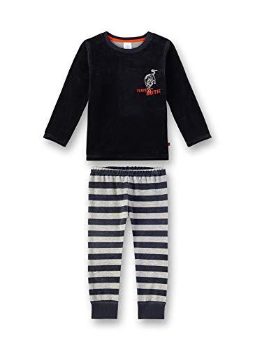 Sanetta Jungen Pyjama Zweiteiliger Schlafanzug, Grau (Shark 1397), (Herstellergröße: 116)