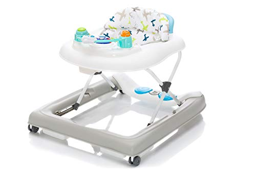 Fillikid Gehfrei Lauflernwagen Flugzeug Exclusiv   Lauflernhilfe mit Spielbrett   Laufwagen 3 fach höhenverstellbar   Baby Walker Activity Center
