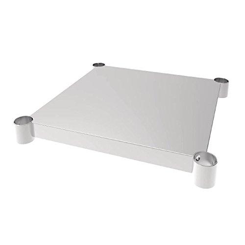 Vogue Table en acier inoxydable étagère 600 x 600 mm pour tables de cuisine meubles