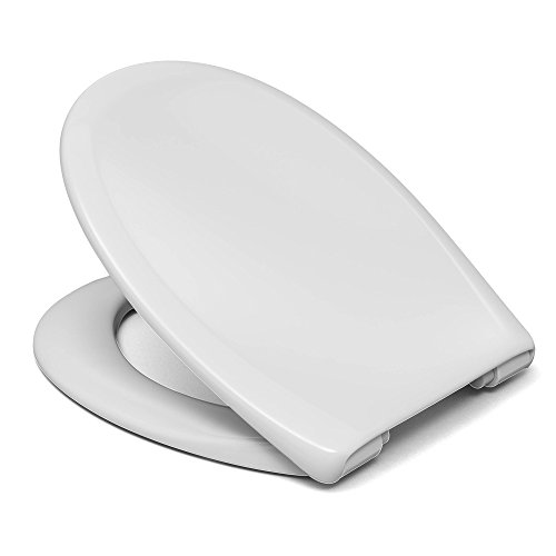Sanifri weiß, 470011127 WC-Sitz Pera, Soft-Close/einhändig abnehmbar, Made in Germany