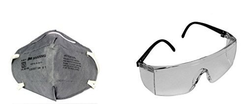 02e776cf3a 3M 28246 Accedre Combo Of Full Eye Cover Bike Riding Goggles With Anti  Pollution Face Mask