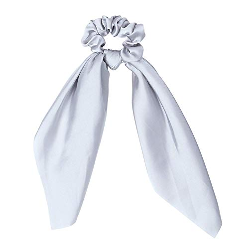 OULN1Y Stirnband Fashion Sweet Print Scrunchie Women Ribbon Elastic Hair Band Bow Scarf Hair Rubber Hair Ropes Girls Hair Accessories,moisten