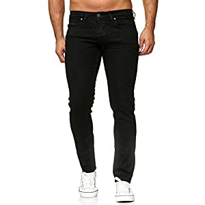 Elara Herren Jeans Slim Fit Hose Denim Stretch Chunkyrayan