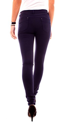 Easy Young Fashion Damen Jeggings Miss Anna Dunkelblau
